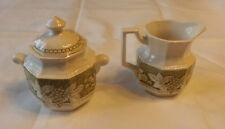 kensington staffordshire ironstone england somerset1803milk jug&tea caddy set