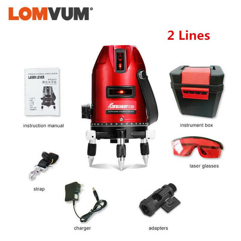 LOMVUM Laser Level 360° RED Beam Cross-Line greenical Horizontal Measure 2 Lines