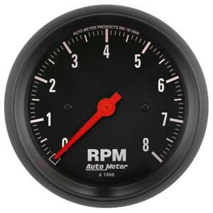 auto meter tachometer gauge 2699; z series 0 to 8000 rpm 3 3 8