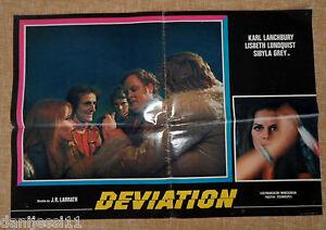 Deviation, Folded, Italian Photobusta, 1976, Italian First Edition, Lanchbury - España - Deviation, Folded, Italian Photobusta, 1976, Italian First Edition, Lanchbury - España