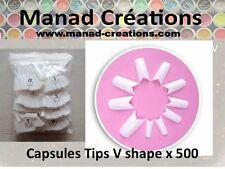 500 capsules tips en shape v signature faux ongles  gel uv manucure nail art