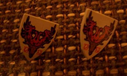 2 lego escudos Hirsch Durmstrang Stag coat of Arms nuevo