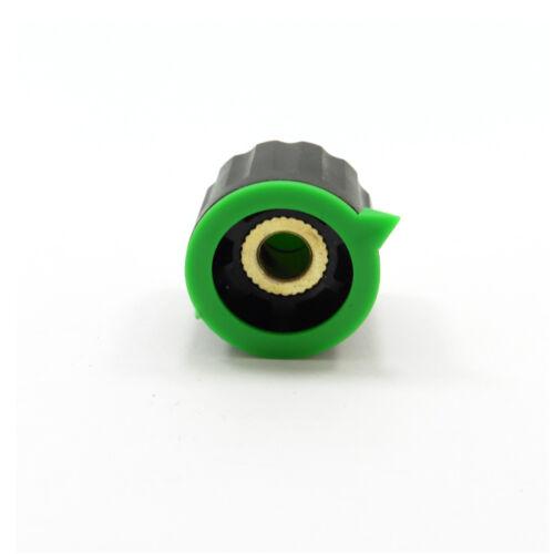 6 mm Ronda Perilla de plástico para Potenciómetro con una tapa de control de volumen 17.5 mm de alto