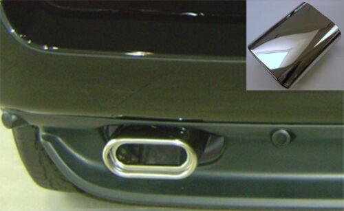 AUSPUFFBLENDEN OVAL 2 STÜCK passend für BMW X5 E53 3.0i NUR BENZINER 99-06