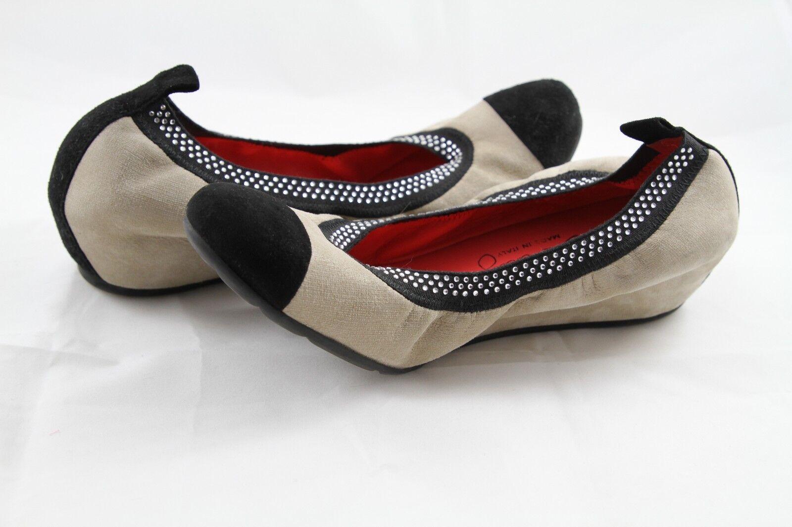 Pas De red 'Petra' Wedge Wedge Wedge shoes Elastic Beige Black Ballet 37.5 1 2 7 4.5 26f0f1