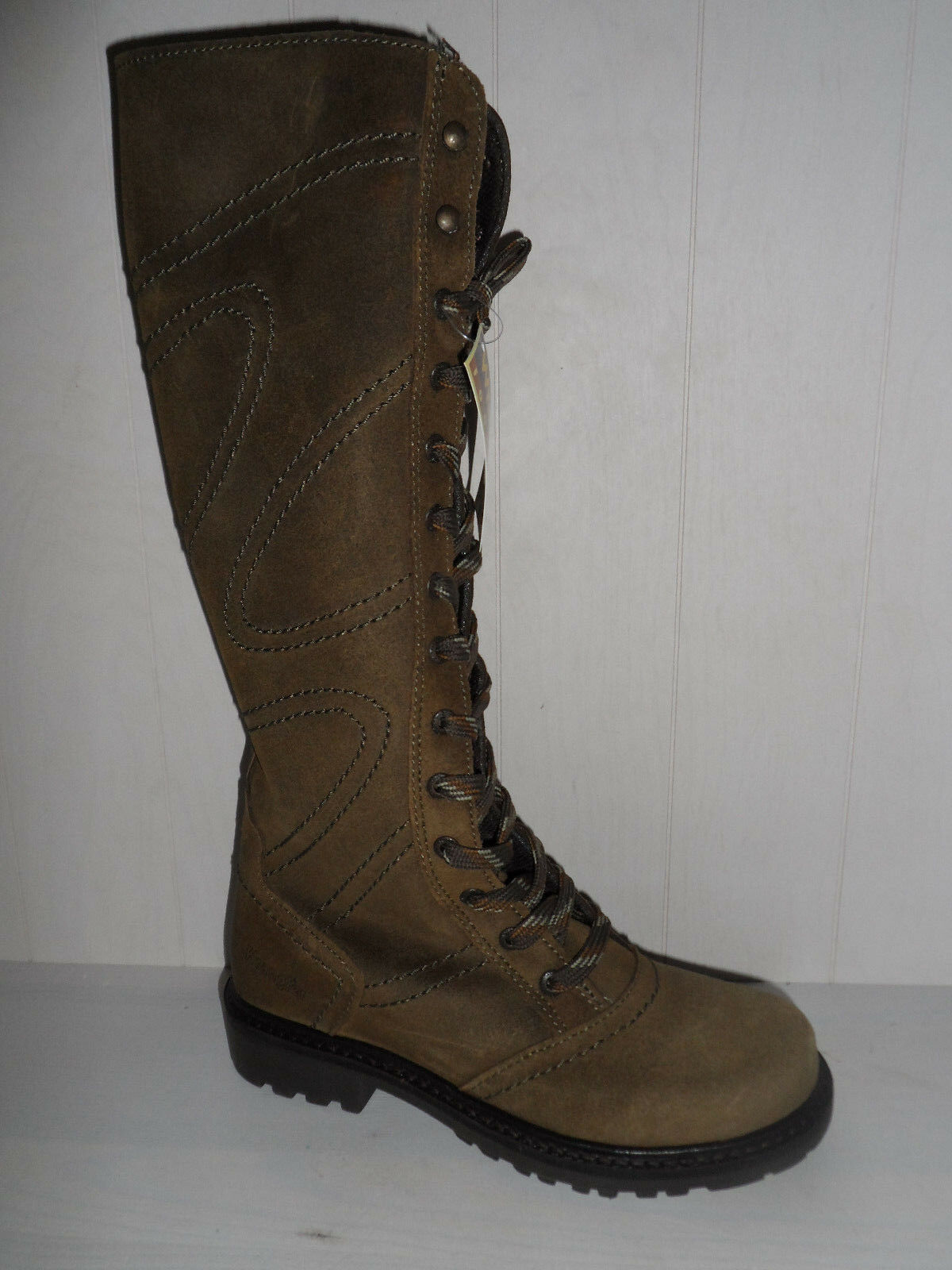 Wrangler Scando High Leg Khaki  Suede Army Stiefel Veloursleder  Khaki 99,95 NEU af8b4f