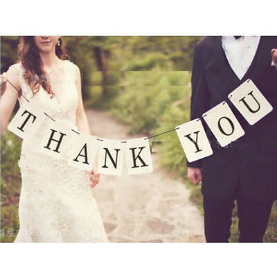 THANK YOU Wedding Banner Bunting Sign Photo Prop Wedding Decoration Vintage