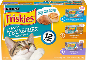 Purina-Friskies-Tasty-Treasures-Wet-Cat-Food-12-5-5-oz-Cans-Variety-Hot-New