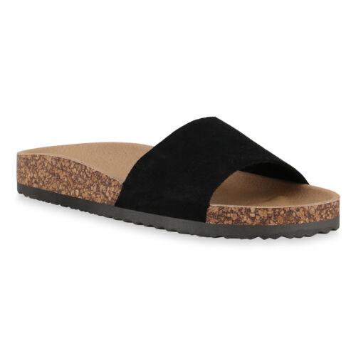 Damen Sandalen Pantoletten Sommer Hausschuhe Bequeme Schlappen 830747 Trendy