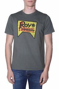 T-shirt-jersey-M-M-uomo-ROY-ROGER-039-S-mod-Vintage-RRU506C7480214-P-E19-col-Verde-M