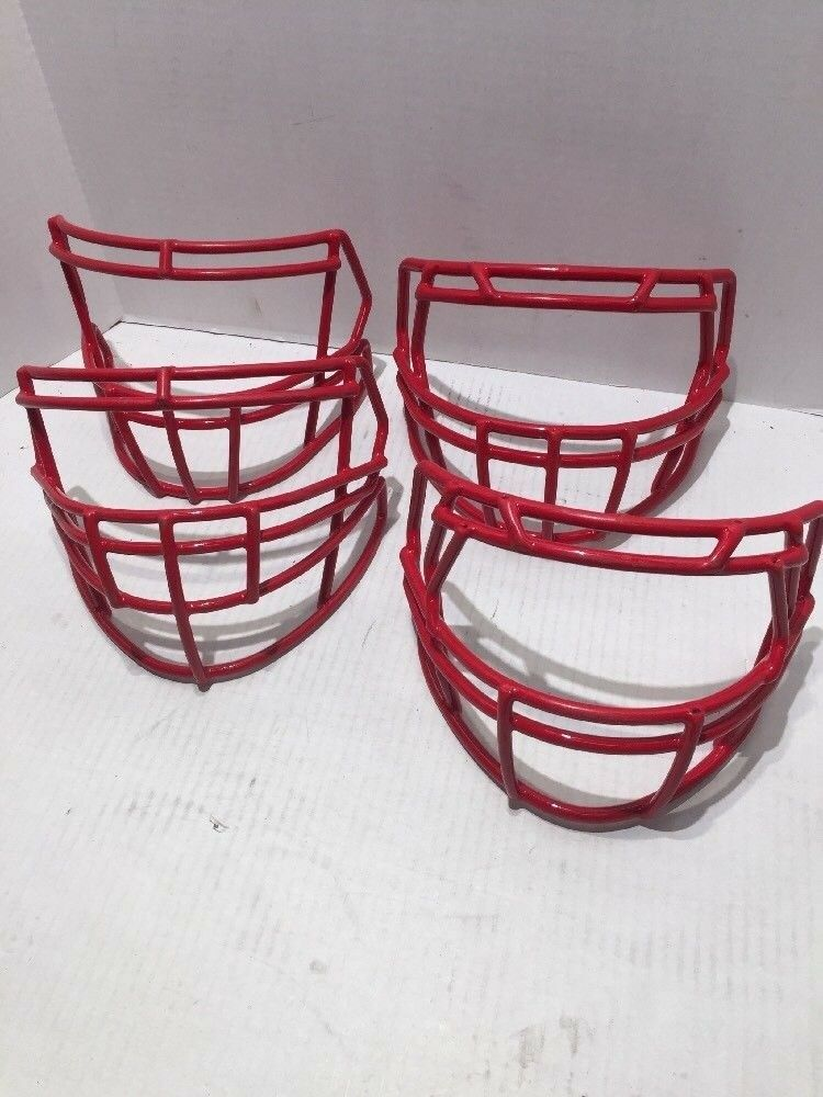 Green GRIDIRON Football Helmet 2018 Facemask Size- SC-04 RED - Lot of 4 Masks