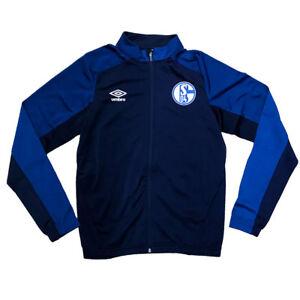 Umbro-Herren-Fussball-FC-Schalke-04-Training-Jacke-S04-Knit-Jacke-dunkelblau-navy