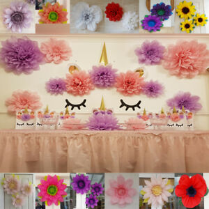 Unicorn party theme girls decorations pom pom paper flower wall image is loading unicorn party theme girls decorations pom pom paper mightylinksfo