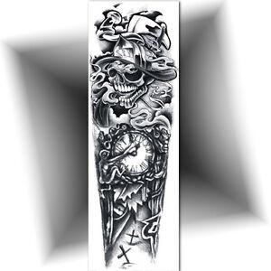 Tatouage Temporaire Bras Entier Manchette Faux Tattoo