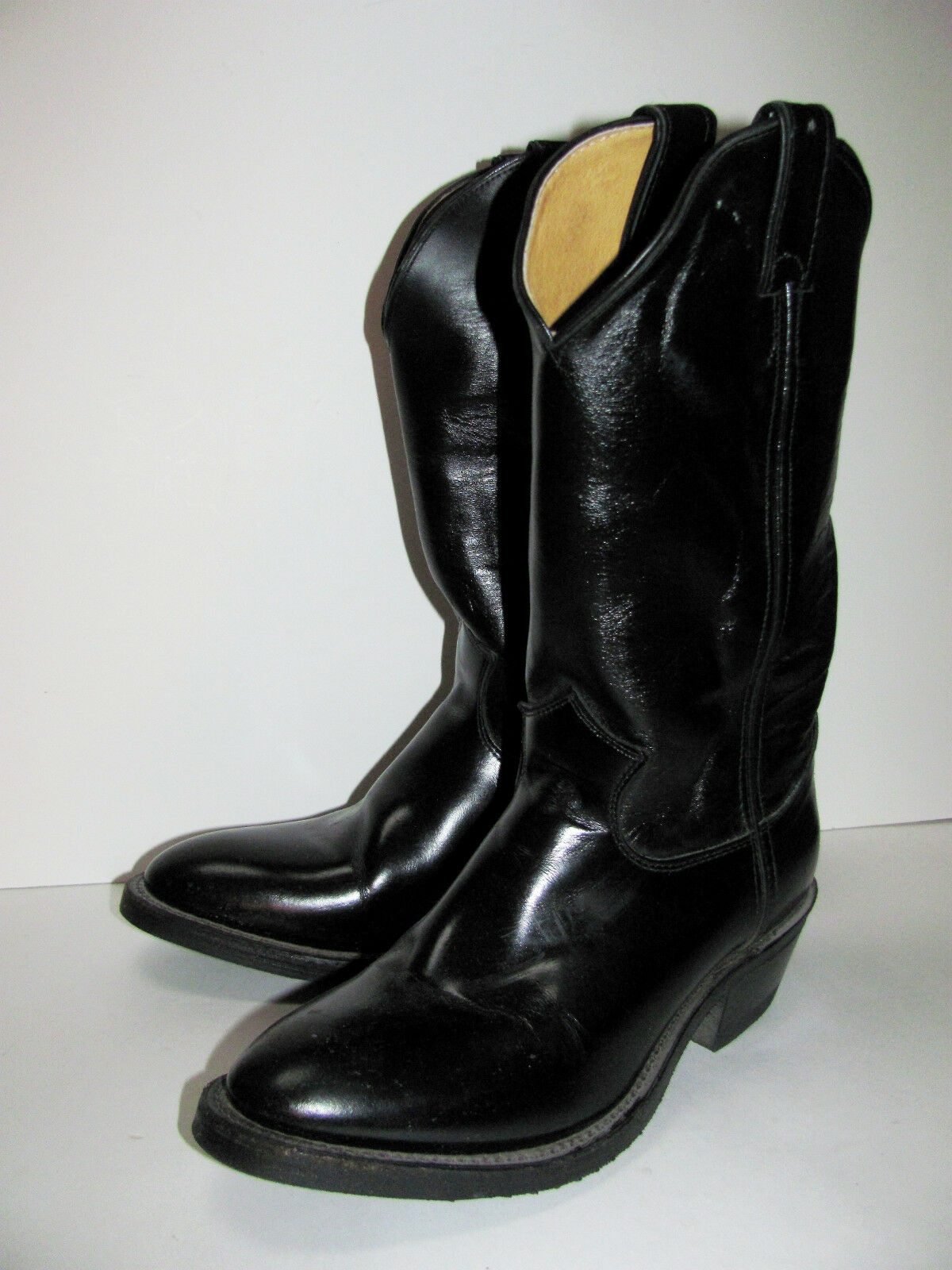 Justin Para Hombre Negro melo-veal bota, Tamaño 8.5 B