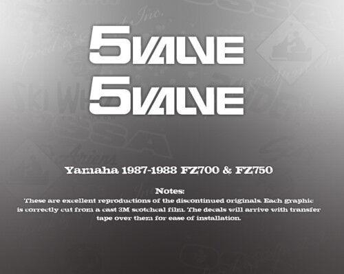 YAMAHA 1987-88 FZ700 FZ750 5-VALVE GRAPHIC DECAL
