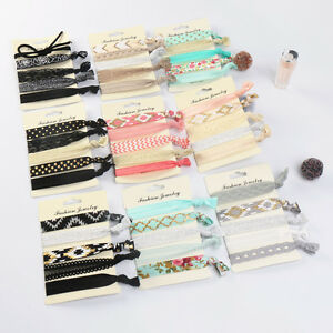 6Pc-Girl-Elastic-Hair-Ties-Rubber-Band-Knotted-Hairband-Ponytail-Holder-Headband