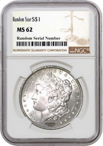 Random-Year-1878-1904-1-Morgan-Silver-Dollar-NGC-MS62