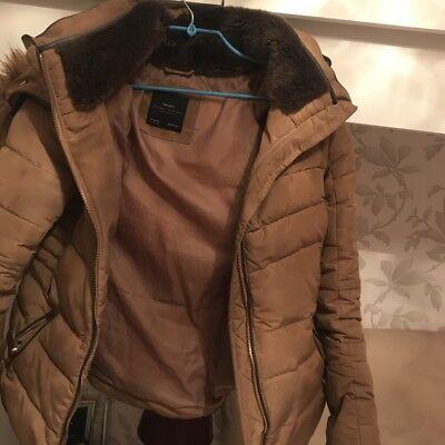 5058d95584 Zara Basic Beige/brown Puffer Jacket *sold Out Online* Size M | eBay