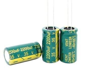 2 pz Condensatori elettrolitici 10.000uF 25V volts 105°