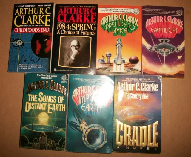 Prelude Space Arthur C. Clarke paperback lot of 7 1984 Earthlight Childhood's VG