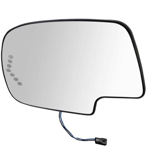 Left Heated Mirror Glass W//LED Turn Signal for Chevy Silverado GMC 88944391 2PIN