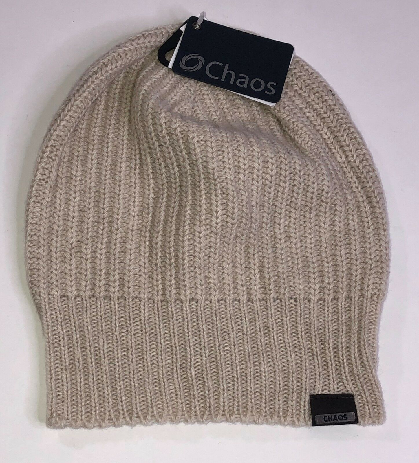 Chaos Marberry Cashmere Beanie Natural Beige color Hat One Size NEW w Tags