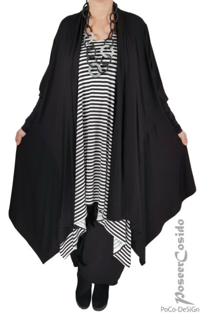 LAGENLOOK Lino Long Shirt Tunika Jacke Mantel L-XL-XXL-XXXL 46 48 50 52 54 56 58