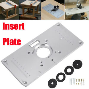 700c aluminum router table insert plate 4 rings screws for image is loading 700c aluminum router table insert plate 4 rings keyboard keysfo Choice Image