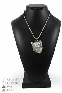 Chihuahua-silver-plated-pendant-on-the-silver-chain-Art-Dog-IE