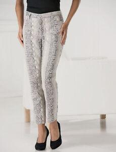 Brand New Womens Focus Snake Embossed Pants Size 12 Ebay