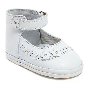 baby white leather high top shoes with hook size