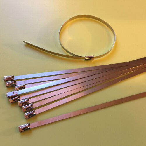 "ZIP TIE STAINLESS STEEL EXHAUST HOSE CLAMP 19/"" x 5//16/""  7.9X500mm  10 PIECE LOT"