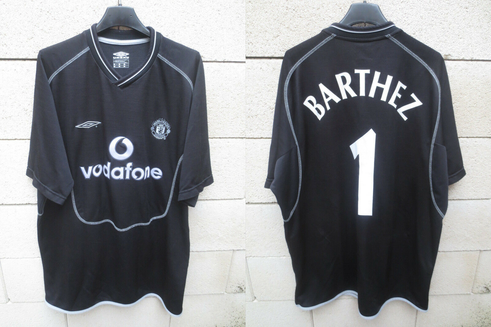 e0f74977322 VINTAGE Maillot Maillot Maillot MANCHESTER UNITED goal BARTHEZ n°1 NIKE  2000 2002 shirt XL 9f879f