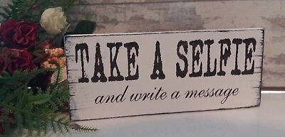 Photo Booth Wedding sign Take a Selfie Free Standing Vintage Shabby /& Chic 8x4