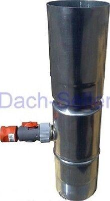 Rheinzink Zink Regenwassersammler 100 / 87 / 80 / 76mm mit Gardena Schlauch