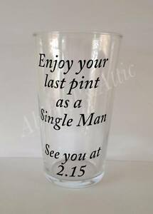 PERSONALISED VINYL DECALS STICKERS FOR PINT GLASS WEDDING EBay - Personalised vinyl stickers