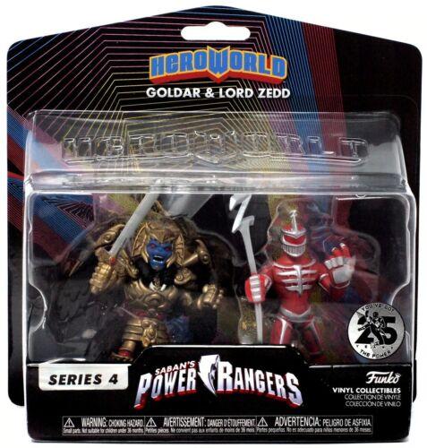 Funko Hero World Power Rangers Goldar /& LORD ZEDD 25th Anniversaire NEUF *