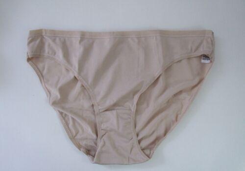 M /& S Size 14 NO VPL Bikini Knickers Panties Briefs microfibre silky Natural
