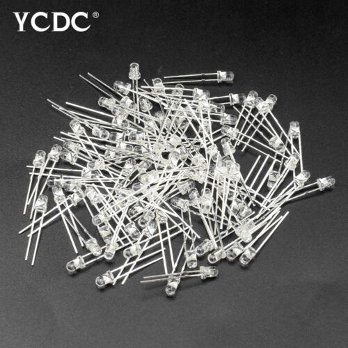 DIFFUSED LED LIGHTS EMITTING DIODES PACK KITS ASSORTED COLOR 2PIN 3MM//5MM 100PCS