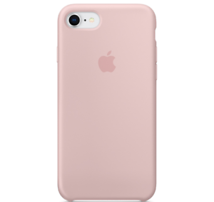 iPhone-8-7-SE-2020-Apple-Echt-Original-Silikon-Schutz-Huelle-Rosa-Sand-Pink