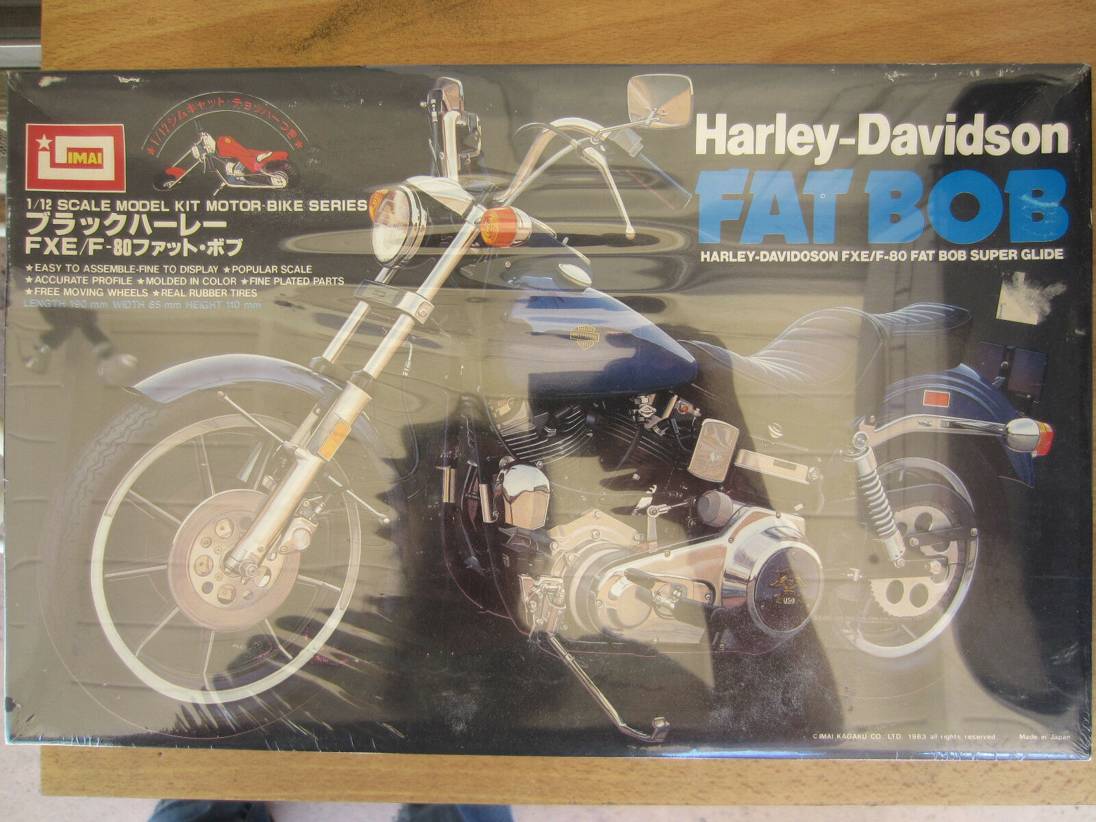 IMAI Vintage 1 12  Harley-Davidson Fat Bob FXE F-80 NEW SEALED Motor Bike Series