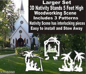 3D OUTDOOR NATIVITY SET WOODWORKING CHRISTMAS YARD ART 3 ...