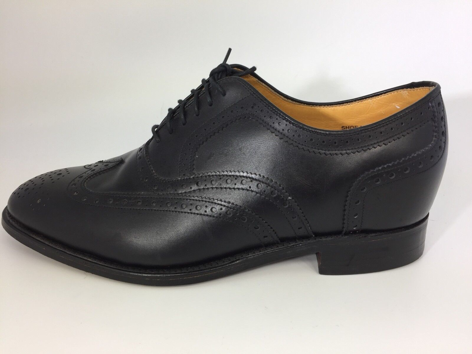 Made in England Lift Black Wingtip Oxfords shoes Mens Size 11.5 EE