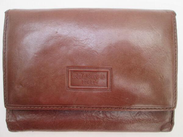 -authentique Portefeuille Brandis Cuir Tbeg Vintage