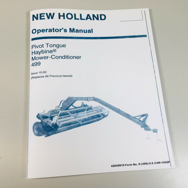 New Holland 1475 Haybine Operators Manual New