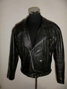 vintage-Motorradjacke-Lederjacke-80s-bikerjacke-oldschool-80er-brando-jacket-XXL