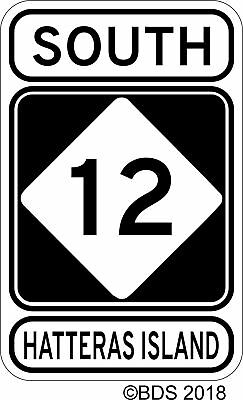 12 South Highway Sign Vinyl Decal Sticker