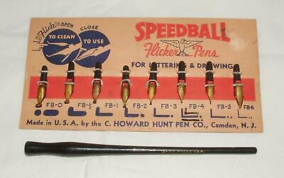 Hunt Co Speedball A-1 Pen Nibs for Drawing and Lettering Square Style