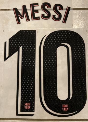La LIGA Pink Flocage Nameset MESSI #10 Barca 2020-2021 Third